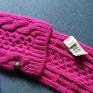 The North Face scarf, pink wool alpaca Minna Scarf